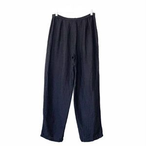 Eileen Fisher Linen Blend Black Pants